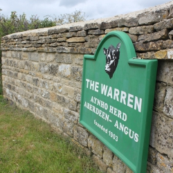 The Warren Sign Driveway Entrance To The Farm